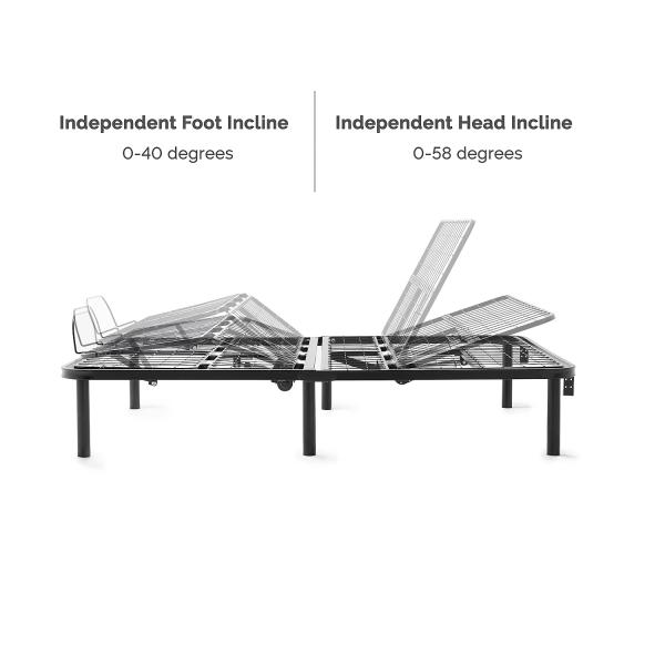 L100 Adjustable Bed Base Lucid Mattress