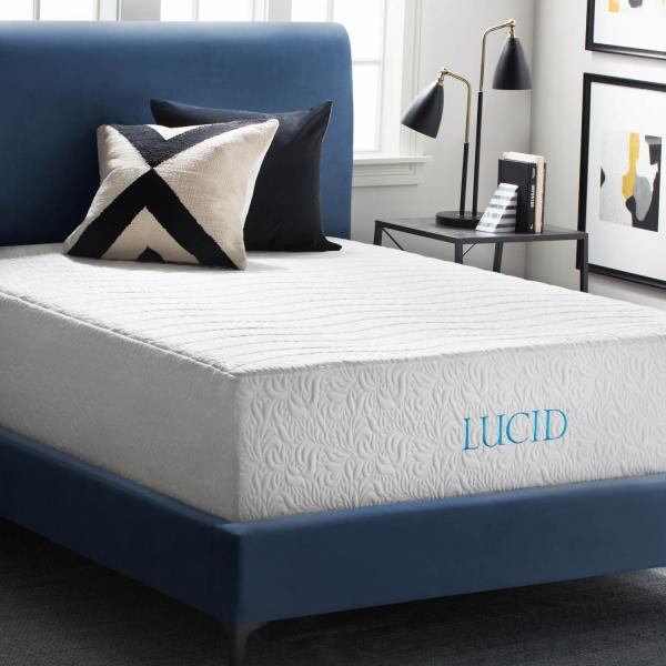 LUCID 16 Inch Natural Latex & Memory Foam Mattress ... on full mattress, rest mattress, air mattress, futon mattress, therapedic mattress, orthopedic mattress, posturepedic mattress, feather mattress, plush top mattress, inventor of the mattress, queen mattress, pillow top mattress, euro top mattress, king mattress, crib mattress, microfiber mattress, simmons mattress, sealy mattress,
