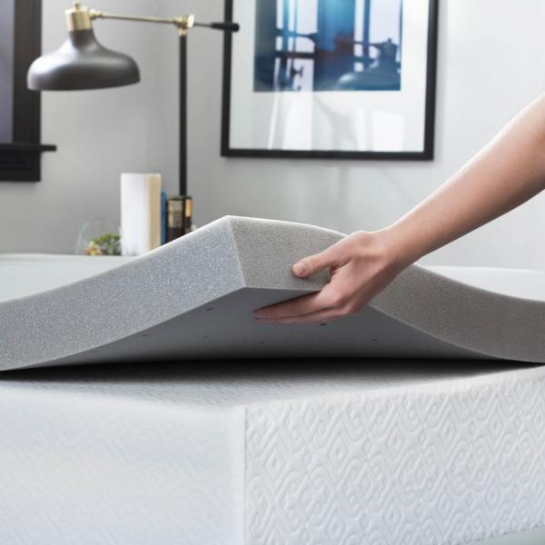 Lucid 3 Inch Bamboo Charcoal Mattress Topper