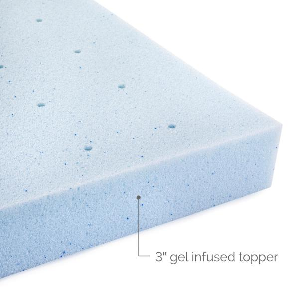 3 Inch Gel Memory Foam Mattress Topper Lucid