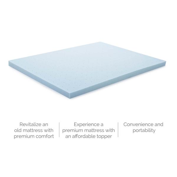3 Inch Gel Memory Foam Mattress Topper Lucid Mattress