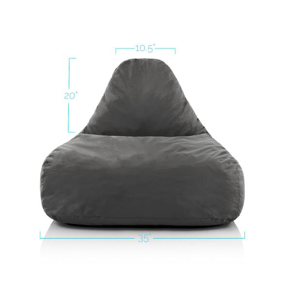Lucid Memory Foam Bean Bag Chair Lucidmattress Com
