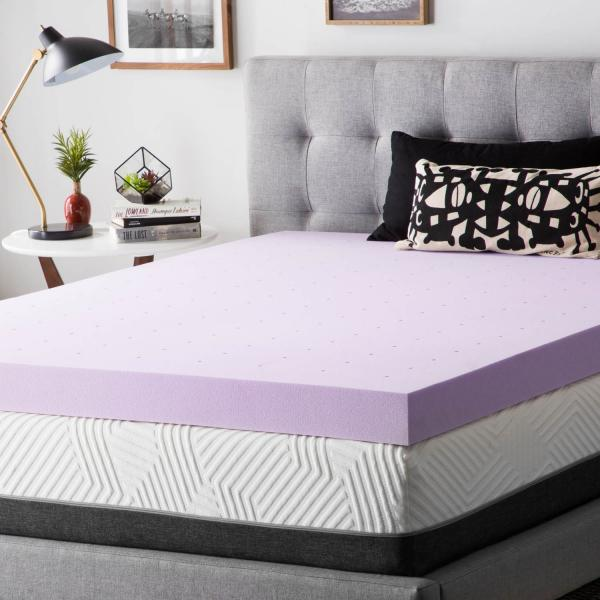 lucid memory foam topper Toppers   Lucid Mattress lucid memory foam topper