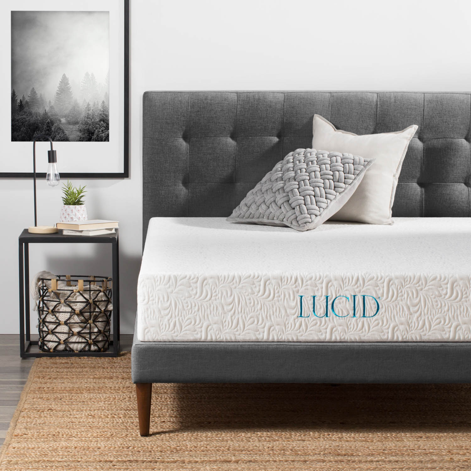 10 inch plush memory foam mattress - lucid